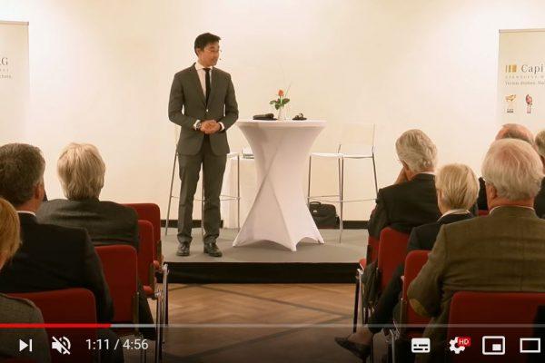 """Video: """"Wir wollen den Zustand der Welt verbessern"""" – Dr. Philipp Rösler zu Gast in Hannover"""