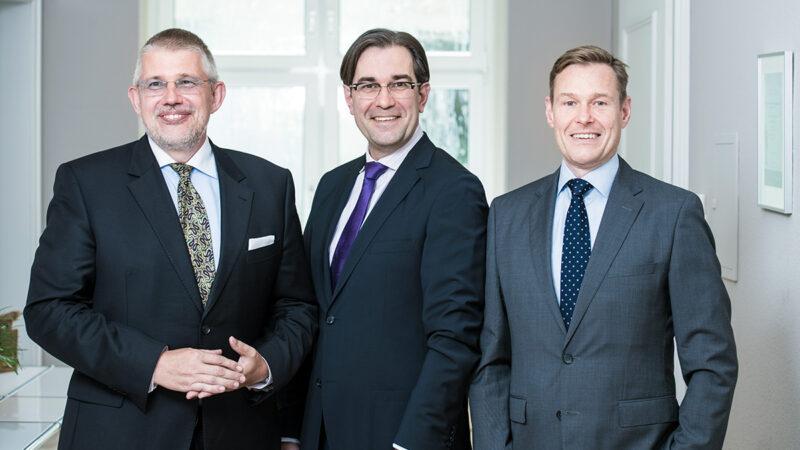 Capitell AG Mannheim mit den Vermögensverwaltern Stefan Kipping, Christian Herde, Detlef Jaehrmann