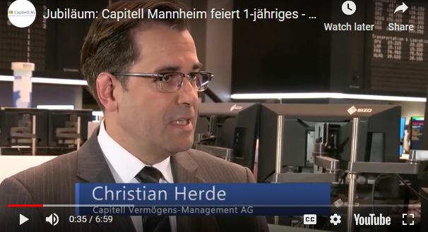 1 Jahr Capitell AG in Mannheim – Christian Herde im Interview an der Frankfurter Börse
