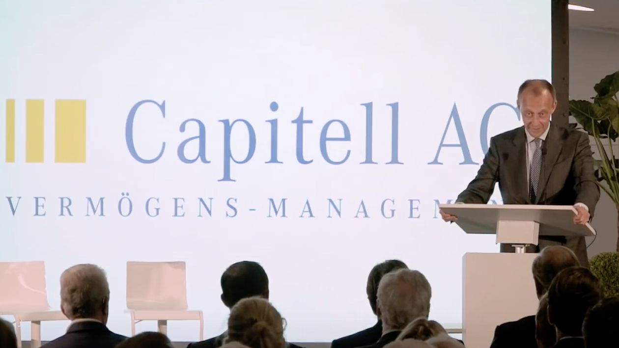 Friedrich Merz bei der Capitell AG Mannheim