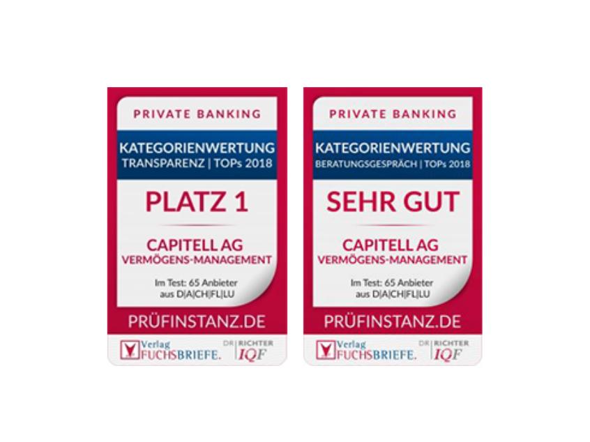 Capitell AG - Gewinner Fuchsbriefe TOPs 2018 - Vermögensverwaltung