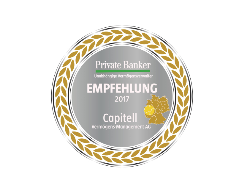 Capitell wird 2017 vom Private Banker ausgezeichnet